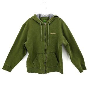 Timberland Olive Green Thick Zip Up Hoodie